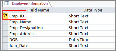 Create Table for relation in Access 2016