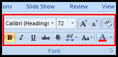 Introduction of Text Basic in PowerPoint 2007