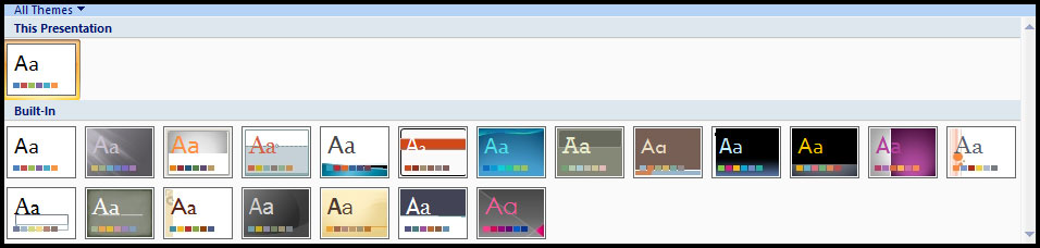 Introduction of Theme in PowerPoint 2007