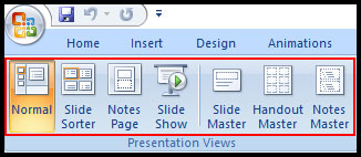 Introduction of presentation view and print in PowerPoint 2007