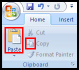 Copy and Paste in PowerPoint 2007