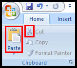 Cut and Paste in PowerPoint 2007