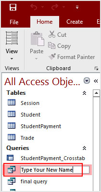 How to Rename Access 2016 Object
