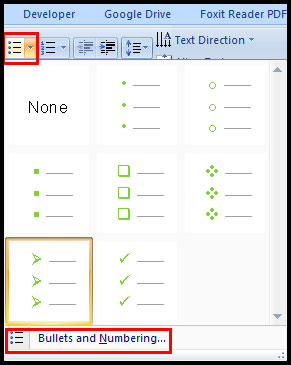 Change Bullet Color in PowerPoint 2007