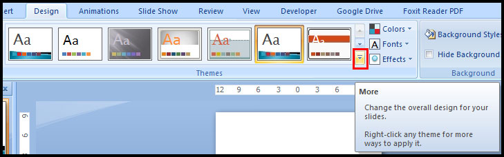 More Theme in PowerPoint2007