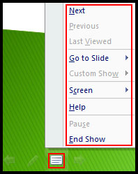Menu Icon in slide menu in PowerPoint 2007