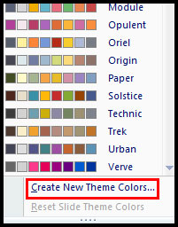 Customize Current Theme Color in PowerPoint 2007