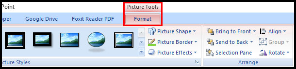 Modify Picture Tool in PowerPoint 2007