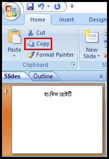 Copy and Paste a Slide in PowerPoint 2007