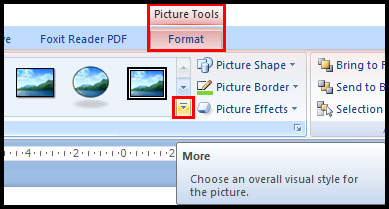 Format Picture from more button in PowerPoint 2007