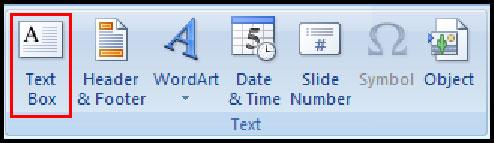 Insert Text Box in PowerPoint 2007