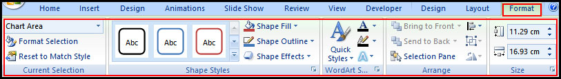 Change chart in additional way in PowerPoint 2007