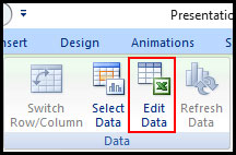 Edit data source for chart in PowerPoint 2007
