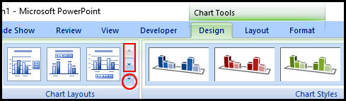 More option for change chart in PowerPoint 2007