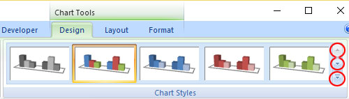 Show more chart style in PowerPoint 2007