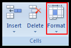 Formatting Columns, Rows and Cells