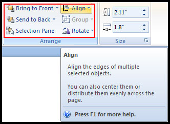 Introduction of Arrange Object in PowerPoint 2007