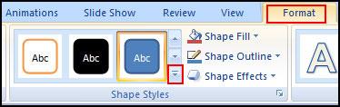 Change Shape Style in PowerPoint 2007