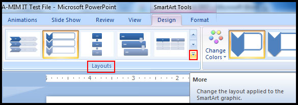 Change smartart layout in PowerPoint 2007