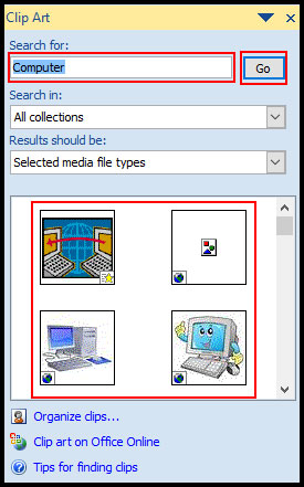 Search and select Movie Clip in PowerPoint 2007