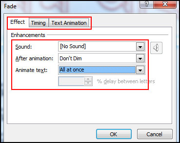 Apply another animation effect in PowerPoint 2007