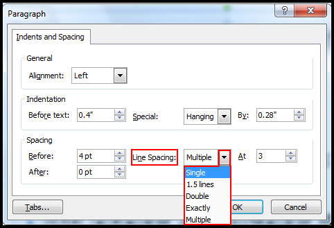 More line spacing option in PowerPoint 2007