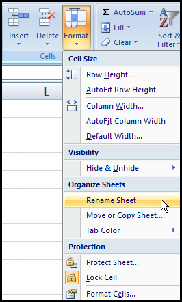 Rename worksheet form menu in Excel 2007