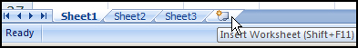 Insert worksheet from tab in Excel 2007