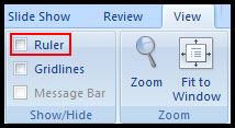 Show Ruler in PowerPoint 2007