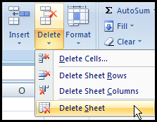 Delete sheet from menu command in Excel 2007