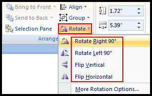 Rotate Object in PowerPoint 2007