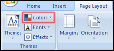 Change Theme Color in Excel 2007