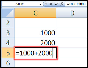 Create Simple Formula using cell value in Excel 2007