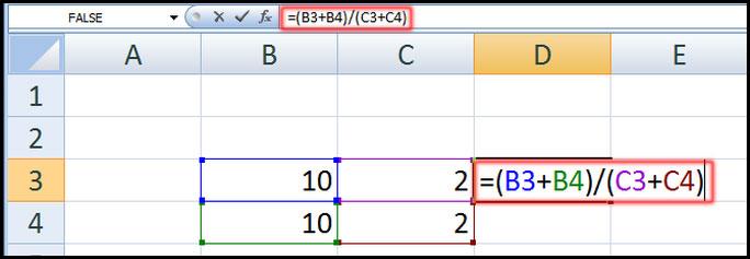 Create complex formula in Excel 2007