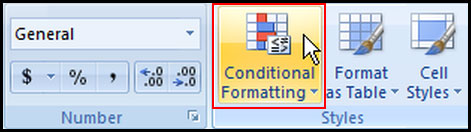 Introduction of Conditional Formatting in Excel 2007