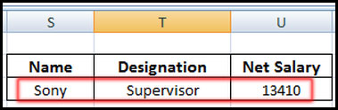 Show VLOOKUP value in Excel 2007