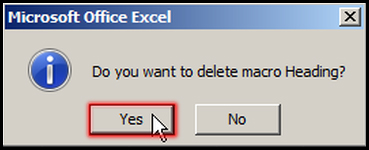 Delete Macro in Excel 2007