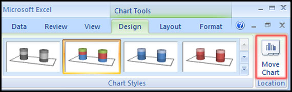 Move Chart another sheet in Excel 2007