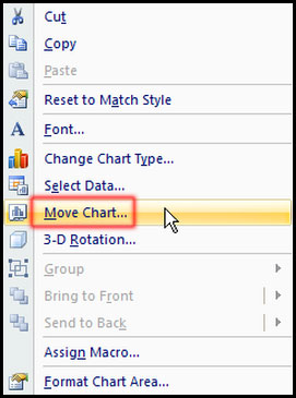 Move chart with right click in Excel 2007