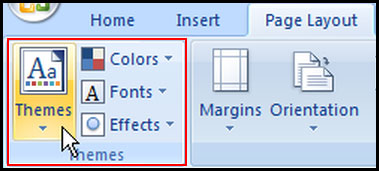Apply Theme in Excel 2007