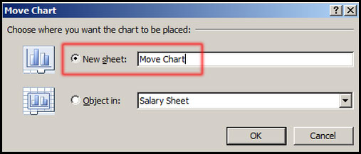 Move Chart to New Sheet in Excel 2007