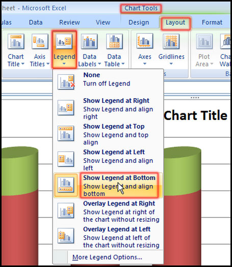 Change Legend option in Excel 2007