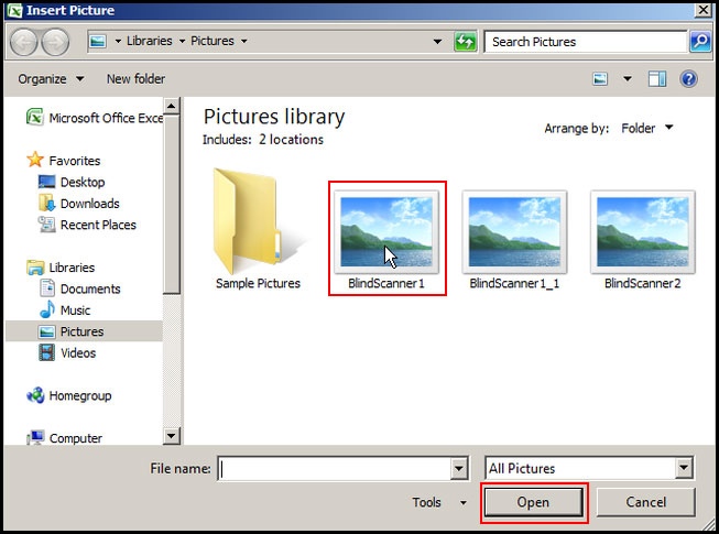 Select picture for watermark in Excel 2007