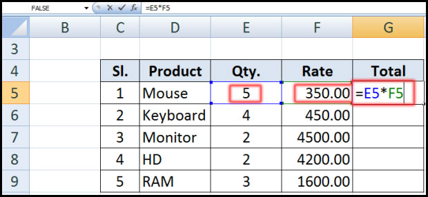 Relative Reference in Excel 2007