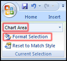 Change format selected option a chart in Excel 2007