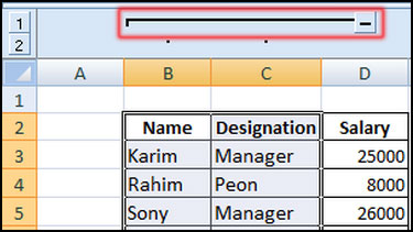 Show group column in Excel 2007