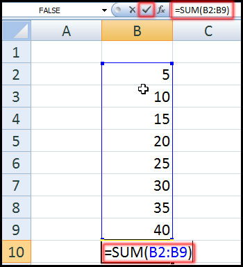 Edit Function in Excel 2007