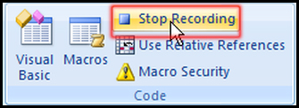 Stop Macro in Excel 2007