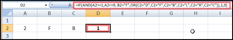 Using IF, AND, OR Function in Excel