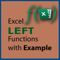 Using LEFT Function with Example in Excel